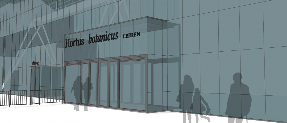 A new entrance for the hortus botanicus Leiden